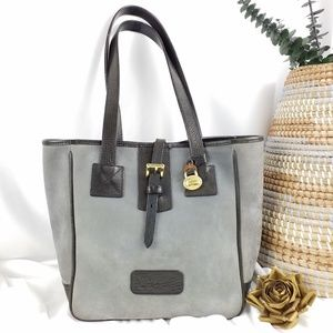 Dooney & Bourke | VTG Gray Suede Leather Tote